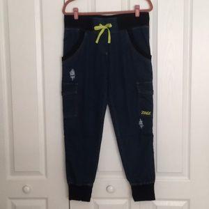 Zumba Wear Denim Cargo-Style Pants Size M